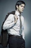 Retrato de um homem novo Fotos de Stock Royalty Free