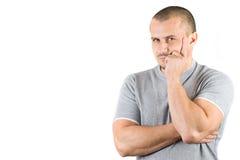 Retrato de um homem novo confiável Imagens de Stock