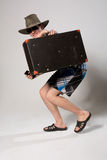 Retrato de um homem novo em um franco de vinda completo Imagem de Stock