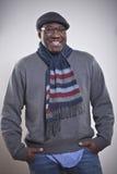 Retrato de um homem novo feliz do americano africano Imagem de Stock Royalty Free