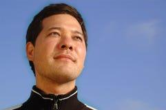 Retrato de um homem novo seguro Fotos de Stock Royalty Free
