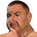 Retrato de um homem pensativo Imagens de Stock Royalty Free