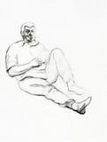 Retrato de um homem sênior ilustração royalty free