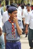 Retrato de um indivíduo do escuteiro, Índia Imagem de Stock Royalty Free