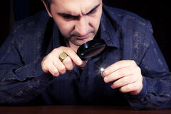 Retrato de um joalheiro Imagem de Stock Royalty Free