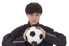 Retrato de um jogador de futebol Imagem de Stock