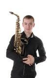 Retrato de um músico Fotografia de Stock Royalty Free