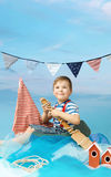 Retrato de um marinheiro pequeno Foto de Stock