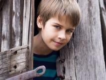 Retrato de um menino considerável foto de stock royalty free
