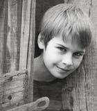 Retrato de um menino considerável fotografia de stock