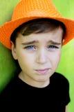 Retrato de um menino considerável Imagens de Stock Royalty Free