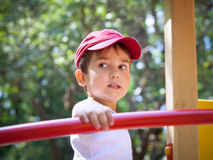 Retrato de um menino dos anos 3-4 Imagens de Stock