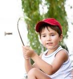 Retrato de um menino dos anos 3-4 Imagem de Stock