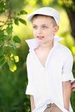 Retrato de um menino em férias Imagens de Stock Royalty Free