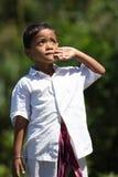 Retrato de um menino indonésio imagens de stock