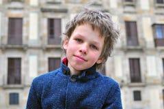 Retrato de um menino inteligente Fotografia de Stock Royalty Free