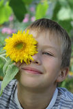 Retrato de um menino louro Foto de Stock Royalty Free