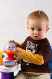 Retrato de um menino no estúdio Fotografia de Stock Royalty Free
