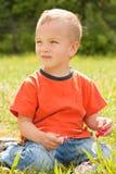 Retrato de um menino novo. Fotos de Stock Royalty Free