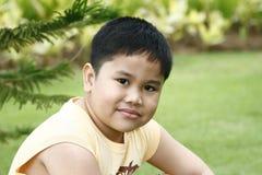 Retrato de um miúdo asiático Imagens de Stock Royalty Free