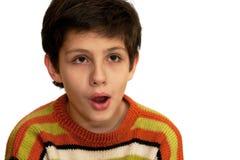 Retrato de um miúdo choc fotografia de stock royalty free