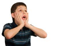Retrato de um miúdo choc imagem de stock