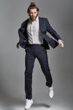 Retrato de um modelo masculino de salto imagem de stock royalty free