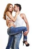 Retrato de um par apaixonado novo imagens de stock royalty free