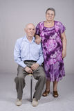 Retrato de um par idoso oitenta anos Imagens de Stock Royalty Free
