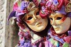 Retrato de um par jesters Imagens de Stock