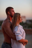 Retrato de um par loving Foto de Stock