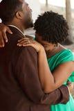 Retrato de um par loving afro-americano Imagens de Stock