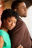 Retrato de um par loving afro-americano Fotos de Stock Royalty Free