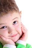 Retrato de um rapaz pequeno alegre Imagem de Stock