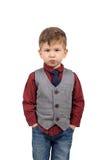 Retrato de um rapaz pequeno bonito Fotografia de Stock Royalty Free