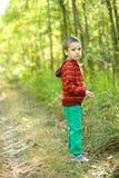 Retrato de um rapaz pequeno no parque Imagem de Stock Royalty Free