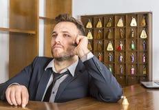 Retrato de um recepcionista Foto de Stock Royalty Free