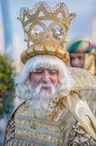 Retrato de um rei, festa dos três reis fotos de stock