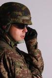 Retrato de um soldado Fotos de Stock