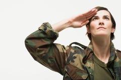 retrato de um soldado da mulher Imagem de Stock Royalty Free