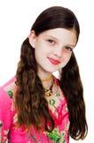Retrato de um sorriso da menina Imagem de Stock