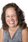 Retrato de um sorriso da mulher do Latino fotos de stock royalty free