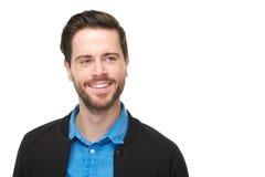Retrato de um sorriso encantador do homem novo Imagem de Stock Royalty Free