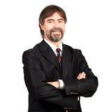 Retrato de um sorriso superior do homem de negócios Imagem de Stock