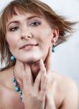 Retrato de um tipo do nordic da mulher nova Fotos de Stock Royalty Free
