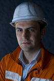 Retrato de um trabalhador Fotografia de Stock
