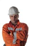 Retrato de um trabalhador de mina Imagem de Stock Royalty Free