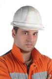 Retrato de um trabalhador de mina Imagens de Stock Royalty Free