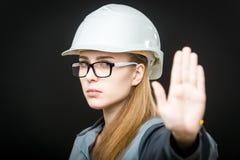 Retrato de um trabalhador fêmea Foto de Stock