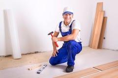 Retrato de um trabalhador manual Imagens de Stock Royalty Free